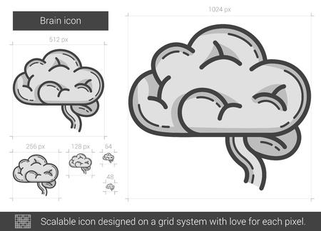 neurosurgery: Brain line icon. Illustration