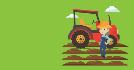 Agricultural banner with space for text.