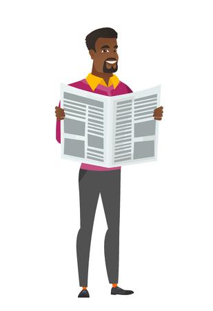 Business man reading newspaper illustration 일러스트