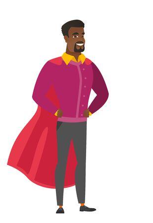 Businessman wearing a red hero cloak. Ilustrace