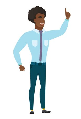 forefinger: Caucasian businessman pointing with his forefinger Illustration
