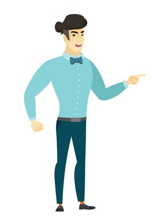Furious businessman screaming illustration.