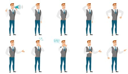 people: Vector set of illustrations with business people. Illustration