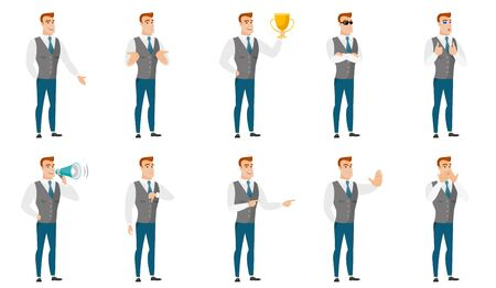 shoked: Vector set of illustrations with business people. Illustration