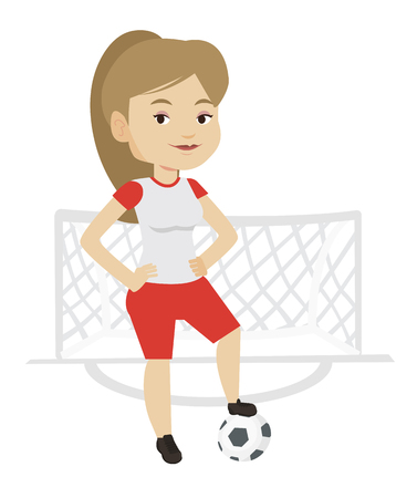 Football player with ball vector illustration. Ilustrace