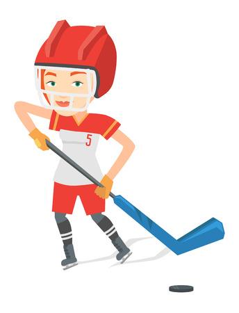 Ice hockey player vector illustration. Ilustrace