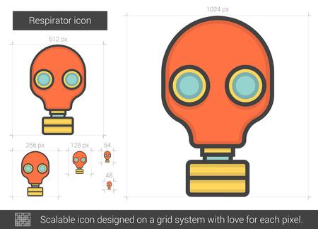 Respirator line icon.