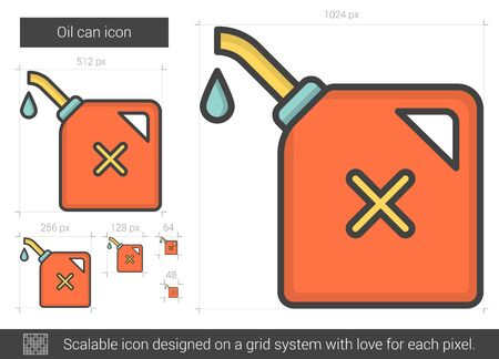 Oil can line icon.