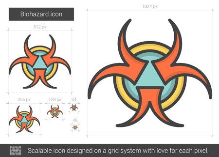 biohazard: Biohazard line icon.
