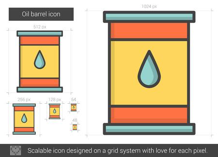 Oil barrel line icon.