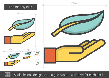 preservation: Eco friendly line icon. Illustration