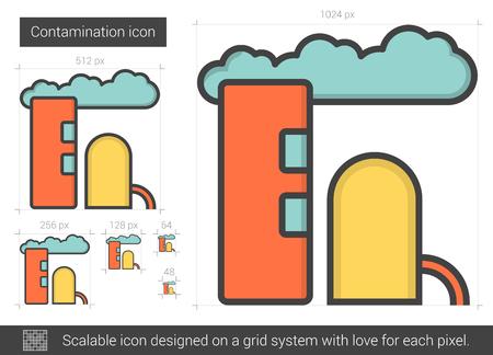 contamination: Contamination line icon.