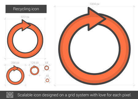 recycling: Recycling line icon.