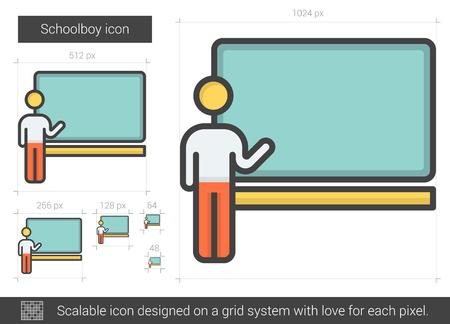 schoolboy: Schoolboy line icon.