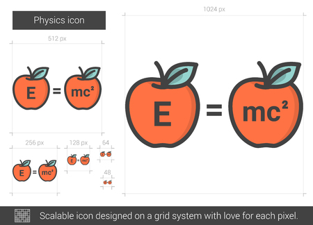 Physics line icon. Illustration