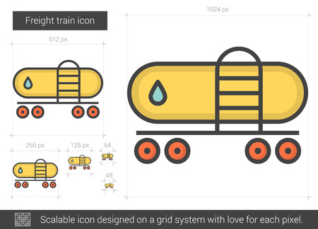 Freight train line icon.