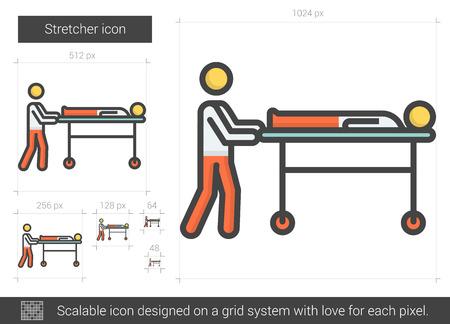 Stretcher line icon.