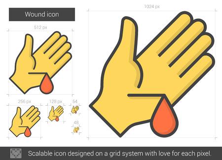 Wound line icon. Ilustrace