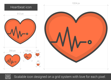 heartbeat line: Heartbeat line icon.