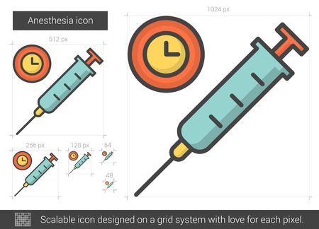 Anesthesia line icon. Illustration