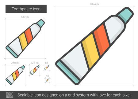 Toothpaste line icon.