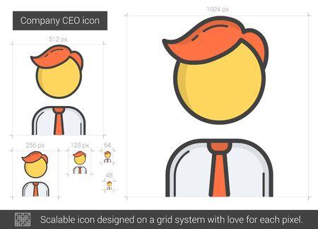 Company CEO line icon.