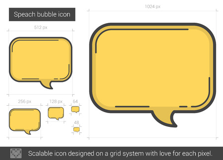 speach: Speach bubble line icon. Illustration