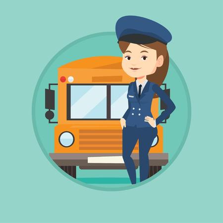 School bus driver vector illustration. Illustration