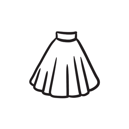 Skirt sketch icon.