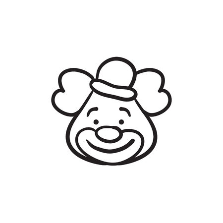 Clown sketch icon.