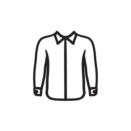 Shirt sketch icon.