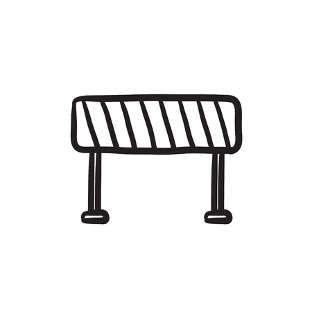 Road barrier vector sketch icon isolated on background. Hand drawn Road barrier icon. Road barrier sketch icon for infographic, website or app. Banco de Imagens - 72136506