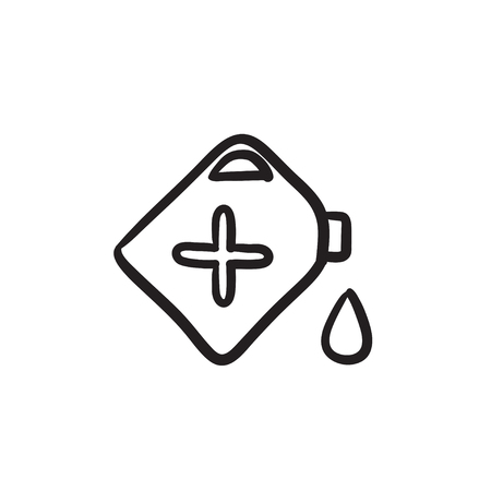 Gas container vector sketch icon isolated on background. Hand drawn Gas container icon. Gas container sketch icon for infographic, website or app. Illustration
