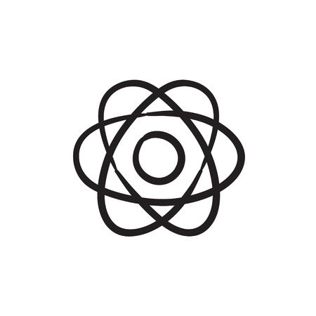 Atom sketch icon.