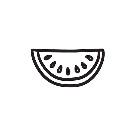 Melon  vector sketch icon isolated on background. Hand drawn Melon  icon. Melon  sketch icon for infographic, website or app. Stock Vector - 72136725