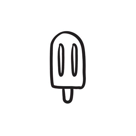 Popsicle sketch icon.