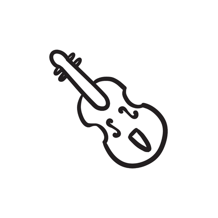 Cello sketch icon.