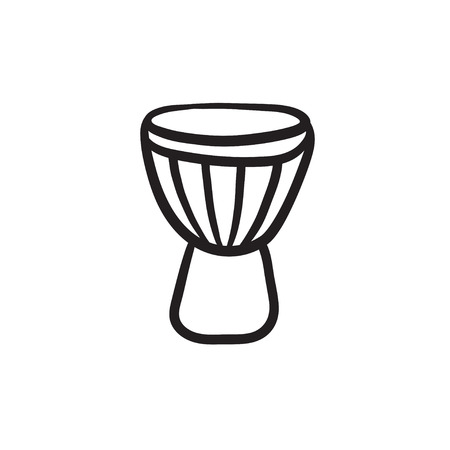 Timpani vector sketch icon isolated on background. Hand drawn Timpani icon. Timpani sketch icon for infographic, website or app.