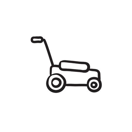 Icône de croquis de lawn.