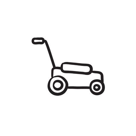 Lawnmover sketch icon.