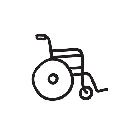 Wheelchair sketch icon