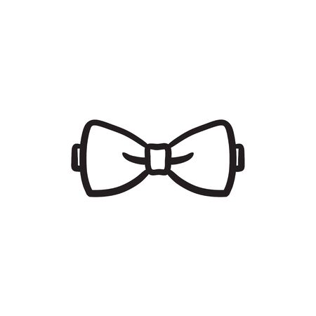 Bow tie sketch icon. Illustration