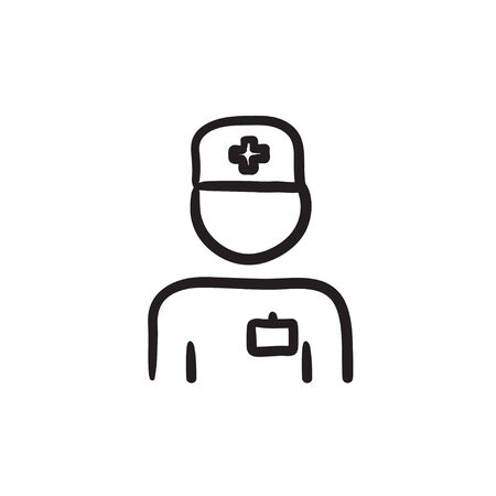 medico: Nurse sketch icon. Illustration