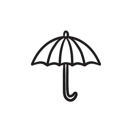 weatherproof: Umbrella sketch icon. Illustration