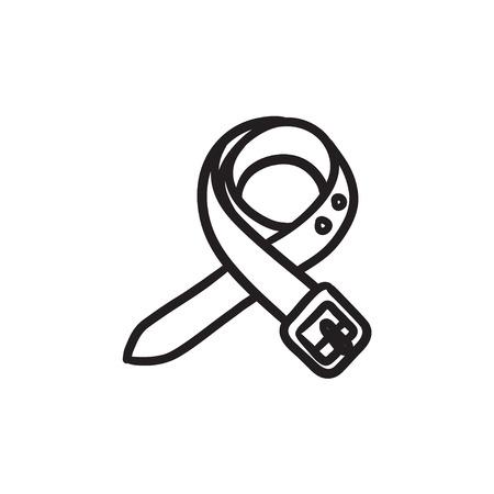 Belt sketch icon.