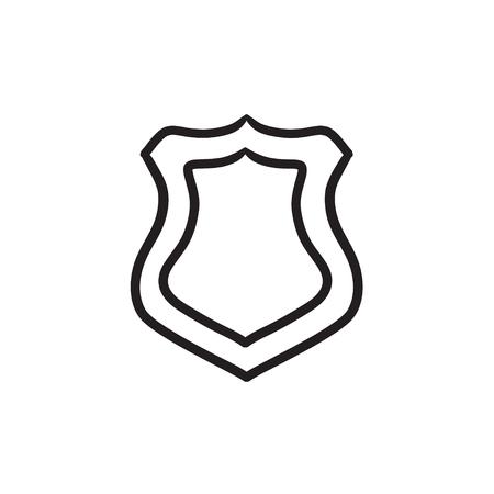 Police badge sketch icon.