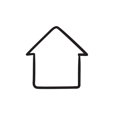 Huis schets pictogram. Stock Illustratie