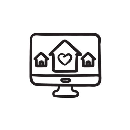 Slimme huistechnologie schets pictogram.