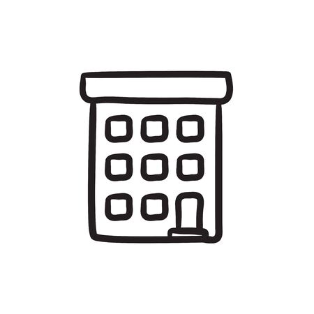 condominium: Condominium building sketch icon.