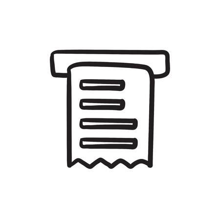 receipt: Receipt sketch icon.